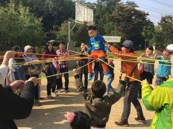 강동구, 유아숲 체험의 모습.